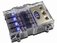 4x anl zekeringhouder met voltmeter