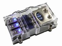 3x anl zekeringhouder met voltmeter